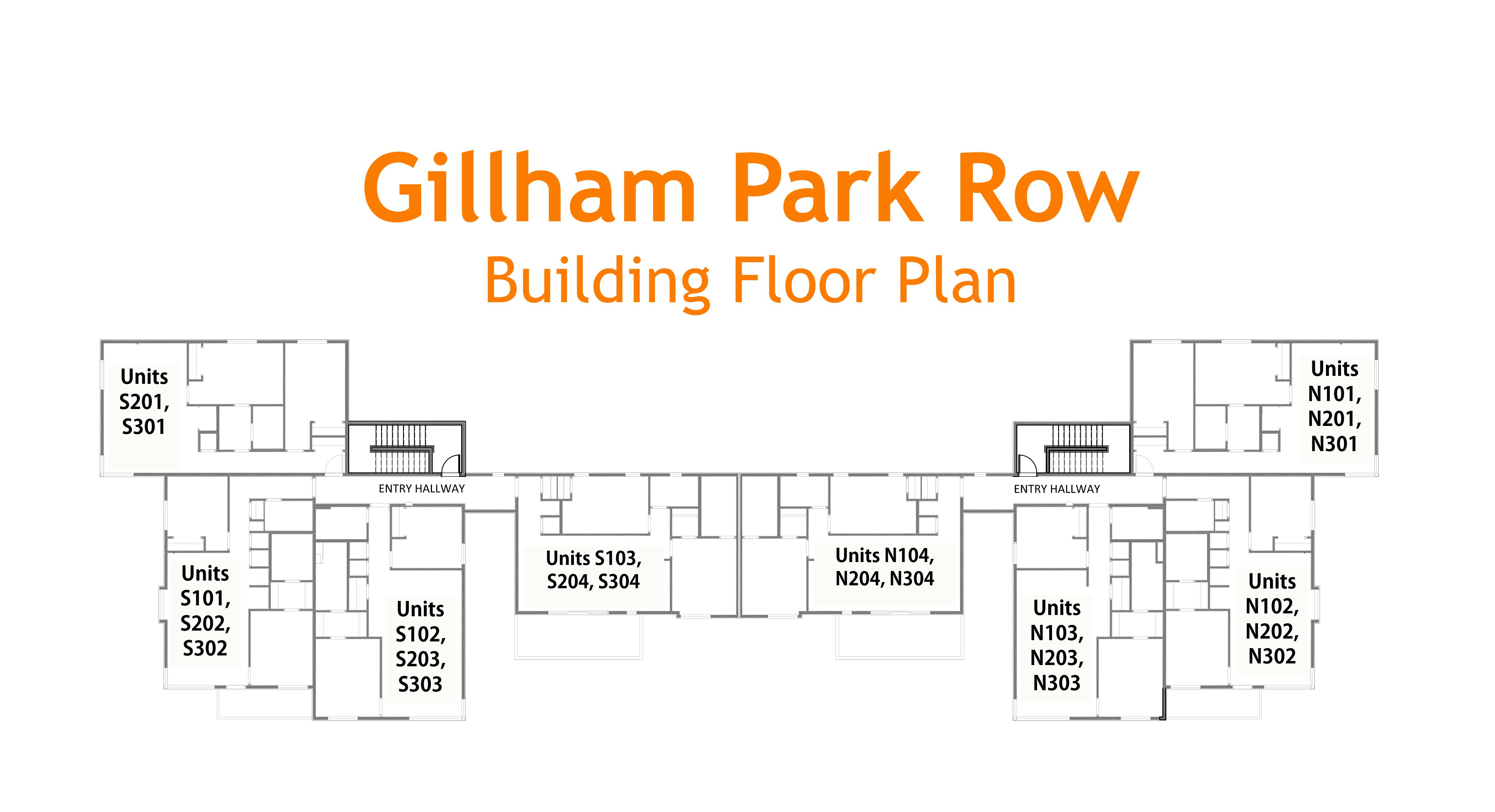 Floor Plans For Gillham Park Row Uc B Properties