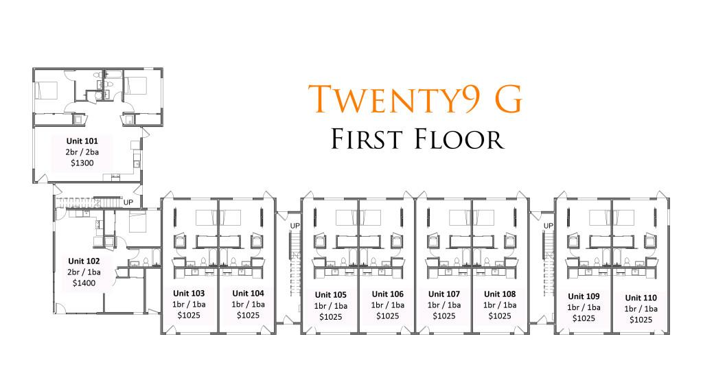Floor Plans For Twenty9 G Uc B Properties