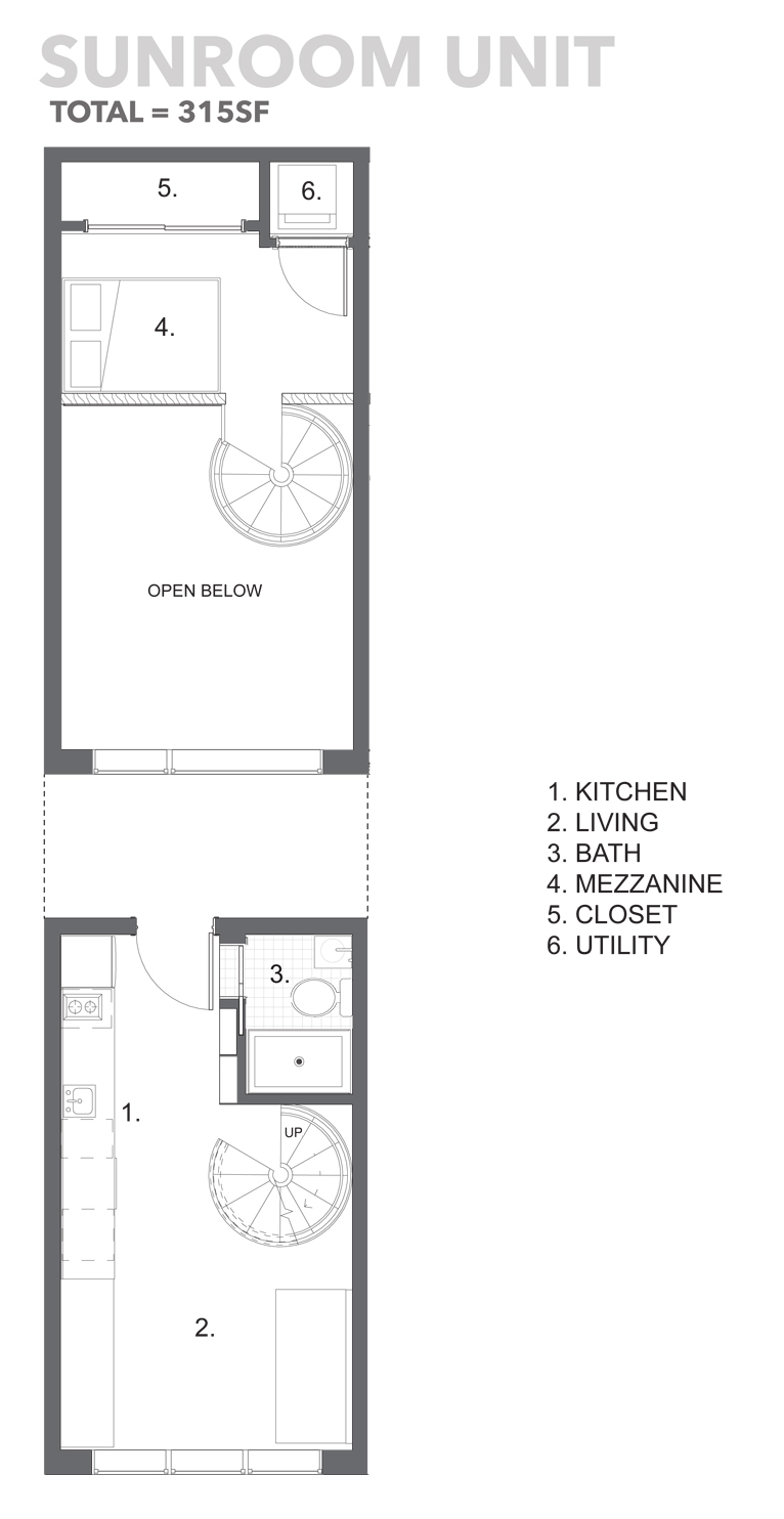 Scholars row uc b properties for Sunroom floor plans