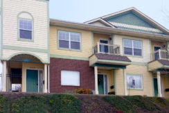 exterior view of townhome complex